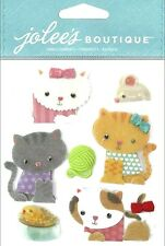 Jolee's Boutique Dimensional Stickers - KITTIES - family pets, cats, felines