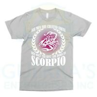 T-Shirt Scorpio Men October Born are Best Cool Funny Birthday Gift