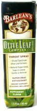 Barlean's Olive Leaf Complex Throat Spray, Peppermint Flavor, 1.5 oz. NEW