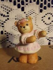 Vintage Lucy & Me Bear-Enesco-Girl Bear Dancing/ Flowers/ Pink Dress