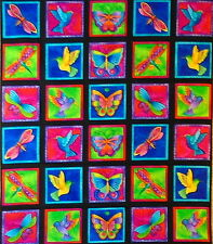 FLYING COLORS II panel,  100% cotton fabric by Laurel Burch (#96BX)