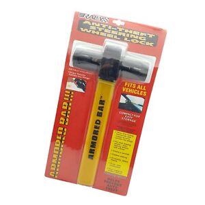 Universal Heavy Duty Steering Wheel Lock Anti Theft Rotary Security Safe Van Car