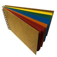 LANDSCAPE  Sketch Book Pad scrapbook bright card wood Hardback Spiral Bound eco