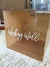 Acrylic Clear Perspex Wedding Wishing Well Box Supply With 3D Letters Free Ship