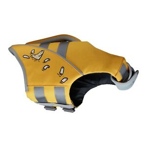 Dog Life Jacket Yellow Premium EVA Lining High Floatation Reflective Trim