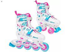 Roller Derby Inline Skates Pink Zebra Print Quad Roller Combo Girls Size 3-6