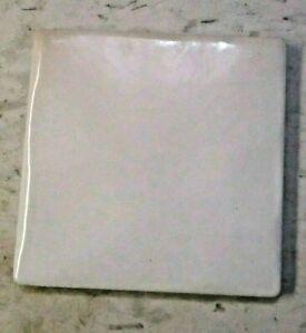 """Italy Dimpled 4-1/8"""" Porcelain Satin Beige w/ Color Variations 1 Floor Tile MCM"""