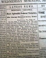 Rare DAVENPORT IA Civil War Era w/ First Battle of Lexington MO 1861 Newspaper