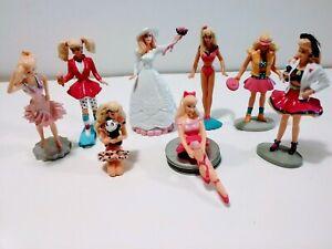 Set of 8 Barbie pvc figures