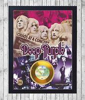 DEEP PURPLE IN ROCK CUADRO CON GOLD O PLATINUM CD EDICION LIMITADA. FRAMED
