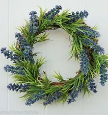 Faux Lavender Wreath or Candle Ring Diameter 23cm (9 inches)