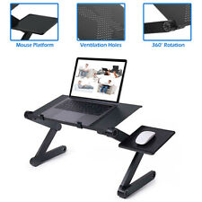 Folding Laptop Table Computer Desk Stand W/ Mouse Pad Bed Sofa Table Adjustable