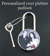Personalized Your Picture Padlock Romantic Anniversary Wedding Gift