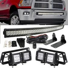 Fit 2010-2018 Dodge Ram 2500/3500 Hidden Bumper LED Bar Fog Light Upgrade Kit
