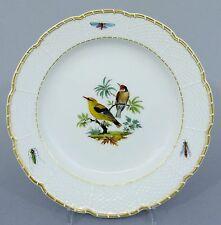 Meissen Teller mit Vogel Motiv, Osier Relief, 1. Wahl, Durchmesser 20 cm #4