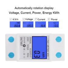 5-32A 230V 50Hz Digital Stromzähler Energiezähler Hutschiene Spannung Wattmeter
