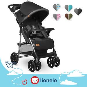 Lionelo Emma Plus passeggino leggero pieghevole con portabibite borsa per genito