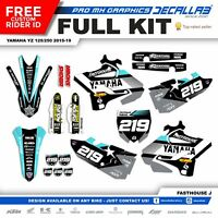 YAMAHA YZ 125 YZ 250 2015 2018 2019 MX Graphics Decals Stickers Durable Decallab