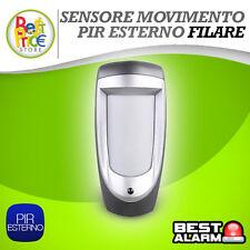 PIR FILARE SENSORE DI MOVIMENTO TRIPLA TECNOLOGIA DA ESTERNO