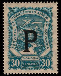 ✔️ COLOMBIA SCADTA 1923 - AIRPLANE PANAMA CONSULAR - SC. CLP60 ** MNH [SCLA654]