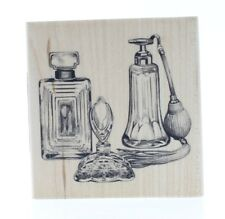 Inkadinkado Glass Perfume Bottle Collection Wooden Rubber Stamp