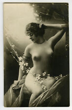 1910s French Risque NUDE SHAPELY Nice Built Beauty photo postcard