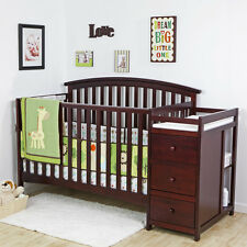 5 in 1 Side Convertible Crib Changer Nursery Furniture Baby Toddler Bed
