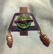 Artistic Handmade Metal Pin Brooch With Copper And Beads
