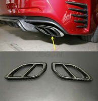 Carbon Fiber Rear Exhaust Muffler Tip End Pipe Trim Fit For Mazda 6 Atenza 17-18