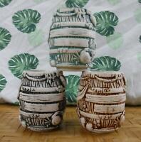 Tiki Mug Debris Barrel Stacker Set of 3 by Fink from Munktiki Imports 276