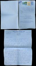 GRENADA 1967 STATIONERY AEROGRAM + POSTAL FISCAL + LETTER re INVERTED SURCHARGE