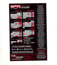 2009-10 Grand Rapids Griffins AHL Detroit Red Wings team issued magnet schedule