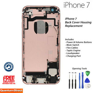 NEW iPhone 7 Complete Fully Assembled Back Cover Housing w/ALL Parts - ROSE GOLD