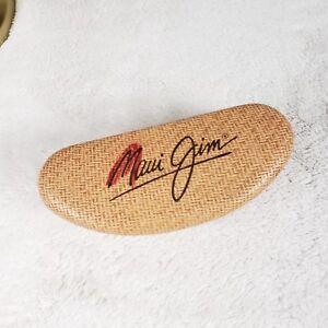 Maui Jim Sunglasses Case Basketweave Protect Eyewear Hard Eyeglass FELT LINED Lg