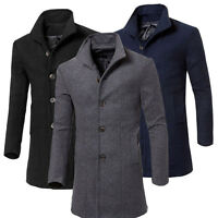 Fashion Men's Coat Winter Long Trench Coat Overcoat Warm Slim Casual Long;,