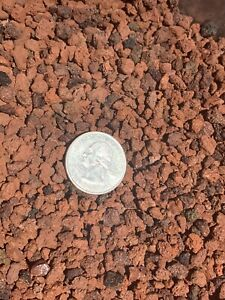 1/4in RED LAVA ROCK AQUARIUM 16 Qts Natural Filter Aquascape Substrate