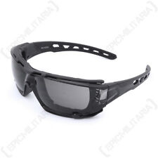 Swiss Eye 'Net' Glasses - Black - Safety Goggles Sunglasses Airsoft Army New