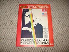Montreux-Detroit International Jazz Festival Official Program-1980