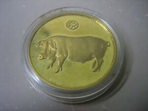 1995 Chinese Year of the Pig commemorative coin - COLLECTABLE