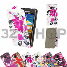 FLIP PU LEATHER CASE COVER FOR SAMSUNG GALAXY S2 I9100 + SCREEN PROTECTOR
