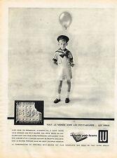 PUBLICITE ADVERTISING 094  1958  LU  le véritable petit-beurre