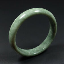 56mm Chinese 100% Natural Green Jade Bangle Bracelet JK3301