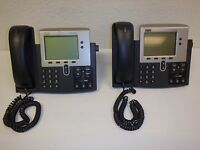 Lot Of (2) CISCO IP Phone 7940 Series Business Office Telephones Parts/Repair