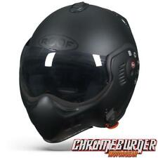 ROOF Boxer V8 Full Black Matt, Motorcycle Helmet, NEW!