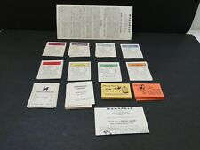 1961 Monopoly Title Deed, Chance and Community Chest Card Lot