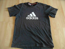 ADIDAS schönes Basic Sportshirt climalite cotton schwarz Gr. 176 TOP KD315