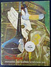 Vintage Macgregor Professional Golf Equipment Buyer's Guide 1966