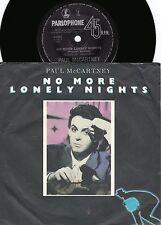Paul McCartney ORIG OZ PS 45 No more lonely nights EX '84 Beatles Rock Pop