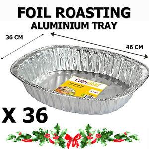 Oval Roasting Tray 46 x 36 x 8cm Large Heavy Duty Aluminium 36 PACK
