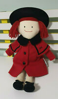 MADELINE DOLL MADELINE PLUSH TOY EDEN 1997 CHARACTER TOY RED COAT BLACK HAT 50CM